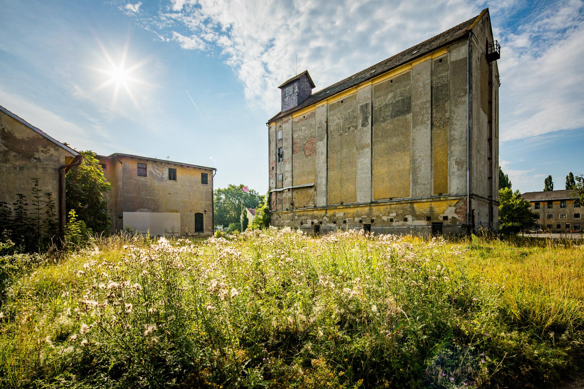 früheres Silogebäude und früheres Gebäude der Betriebsfeuerwehr