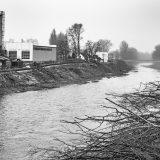 Bau des Murkraftwerks Puntigam in Graz III