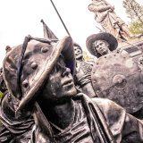 Rembrandt-Denkmal in Amsterdam mit Nachtwache